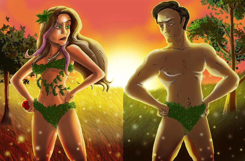 Epic Rap Battles of History: Adam Vs Eve Fan Art by SemajZ