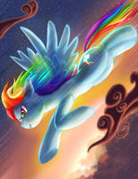 Zooming Rainbow Dash by SemajZ