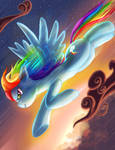 Zooming Rainbow Dash