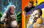 ERB Fan art: Ben Franklin Vs Billy Mays
