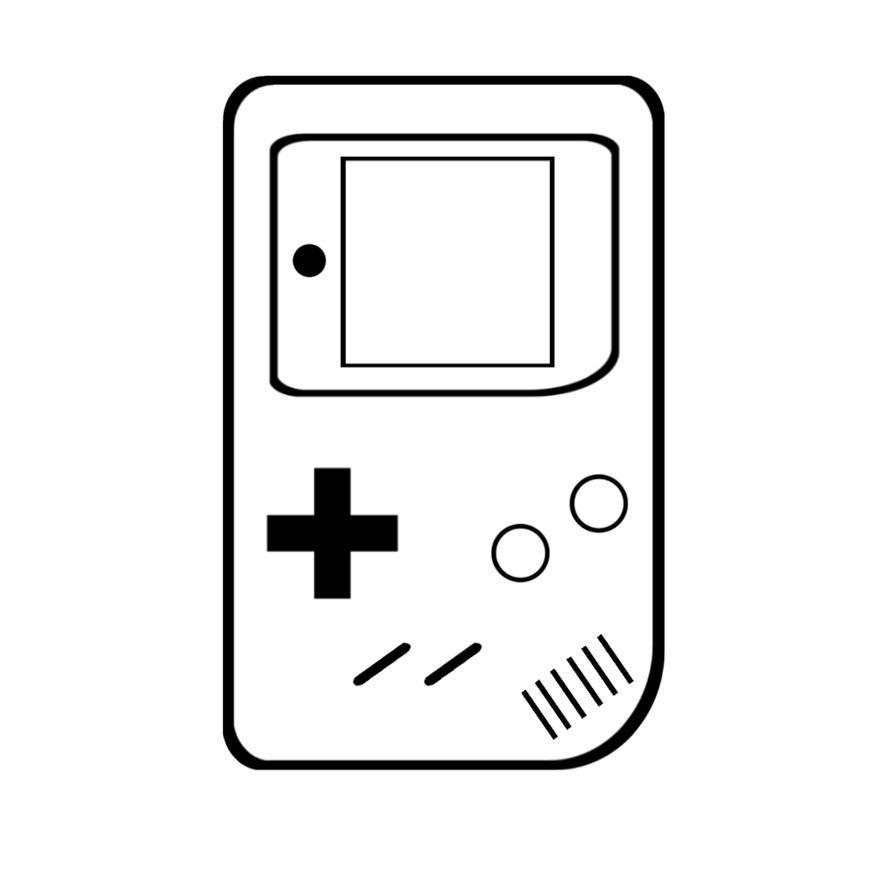 Line Drawing Game : Game boy line art by semajz on deviantart