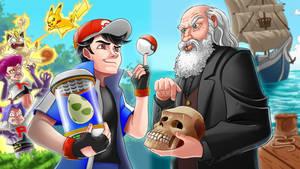 ERB: Ash Ketchum Vs Charles Darwin fan art by SemajZ