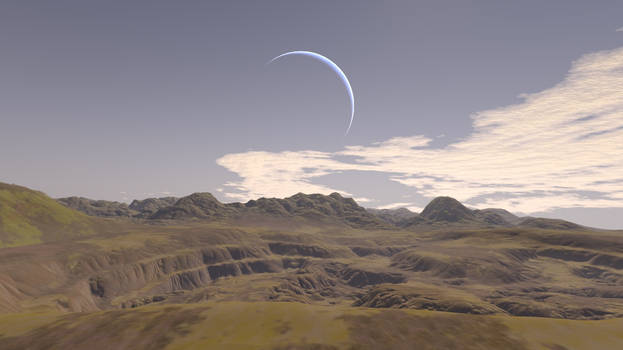 View from a moon
