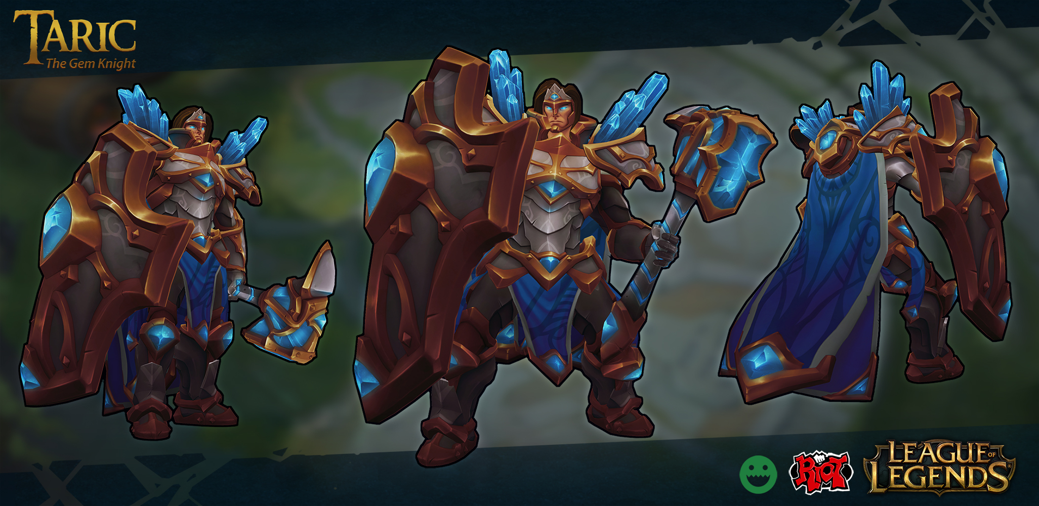 League Of Legends Character Design Contest : Taric visual update by fch ck on deviantart