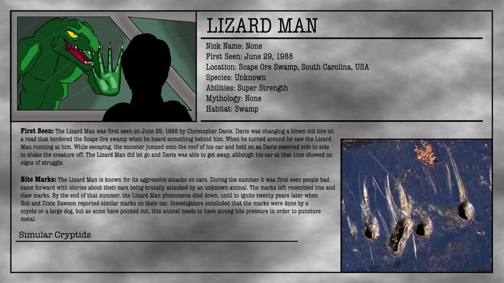 Cryptid Month Lizard Man By Mcdonaldbros On Deviantart