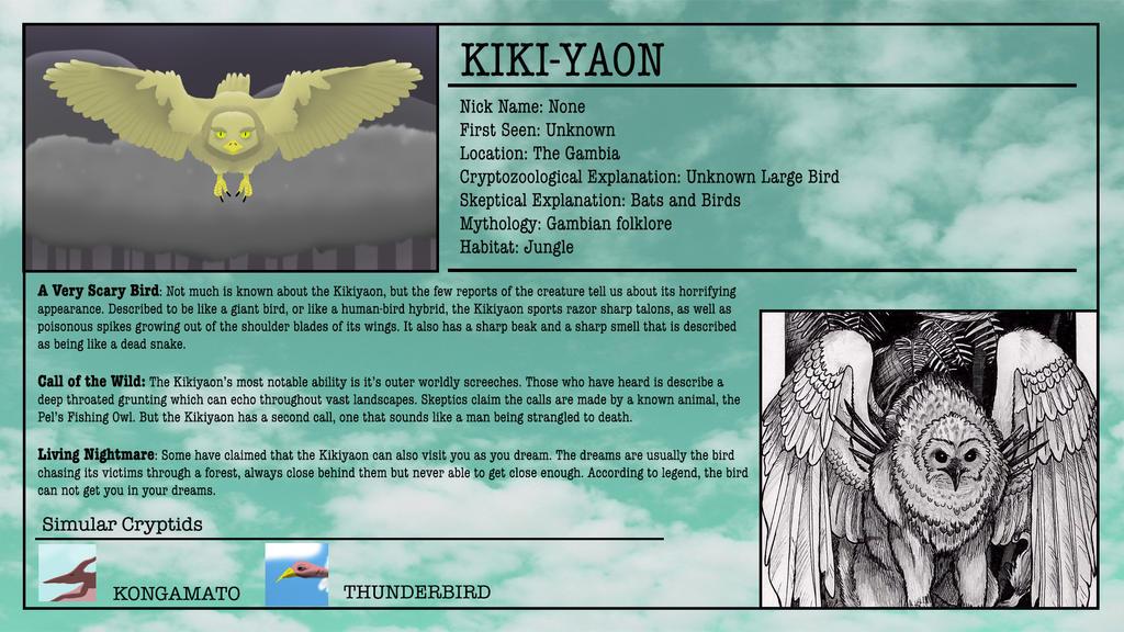 Cryptid Month: Kikiyaon by McDonaldbros on DeviantArt