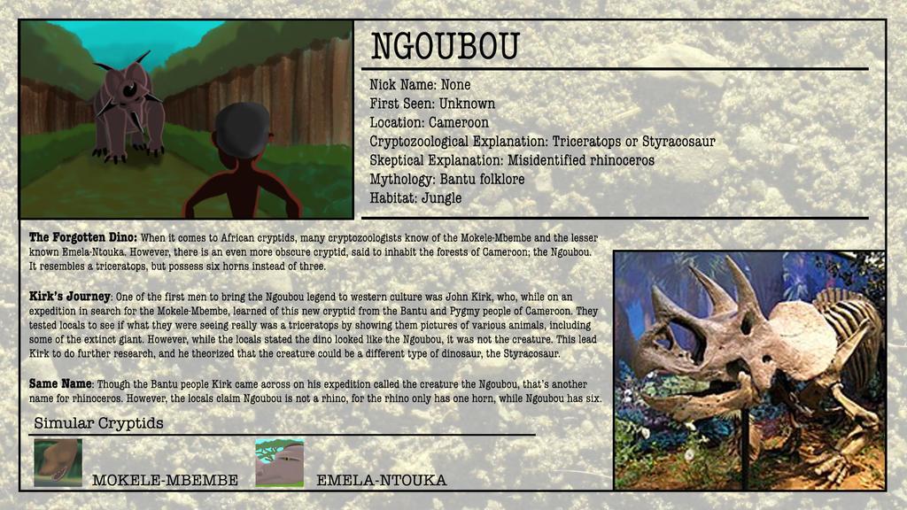 Cryptid Month: Ngoubou by McDonaldbros on DeviantArt