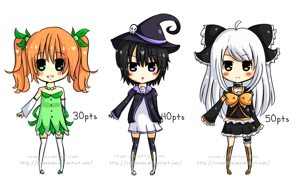 [closed] Adoptables [October '12] by riruun