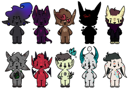 9 AUCTION ADOPTS!!! (3 LEFT!) by horneddeviI