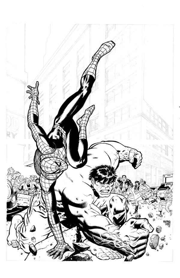 Spiderman vs Hulk by LOPEZMICHAEL