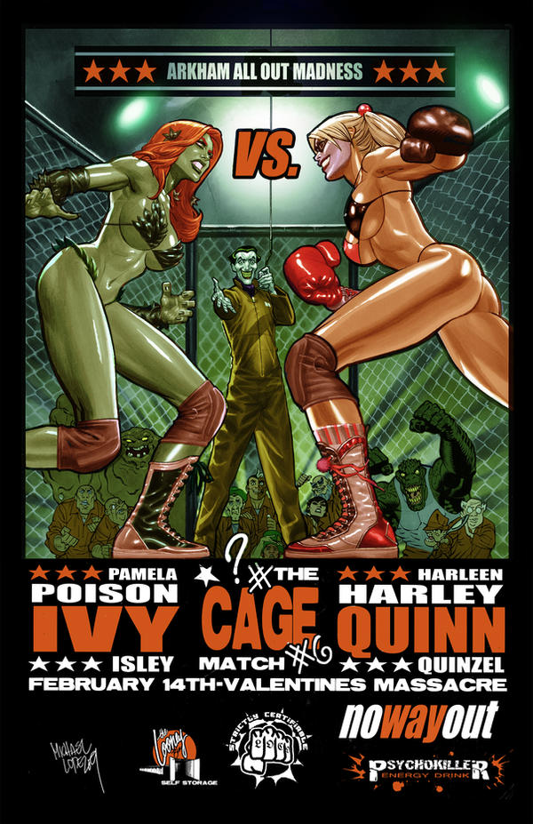 Poison Ivy vs Harley Quinn by LOPEZMICHAEL