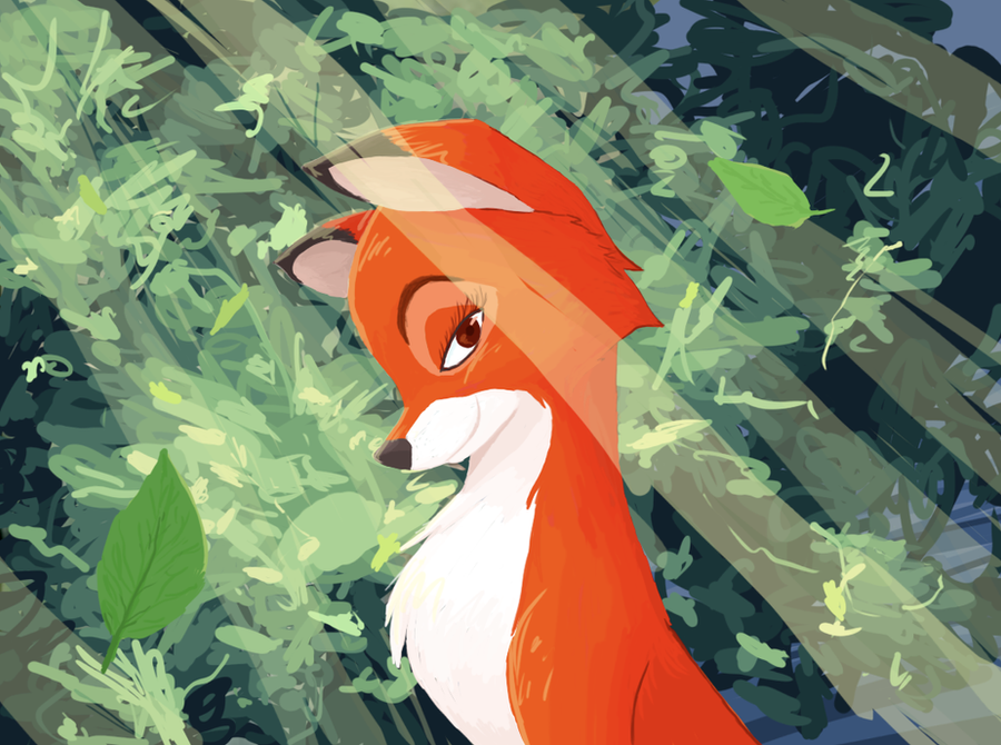 """Fox and the Hound"" Vixey by AbyssOkami"