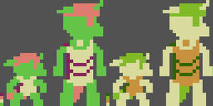 (Aseprite) Pixelized Berzie and his Player 2