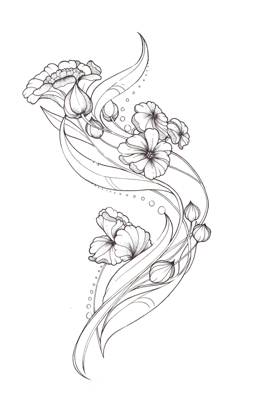 Art Nouveau Tattoo Design By Tegan Ray Designs Interfaces Tattoo