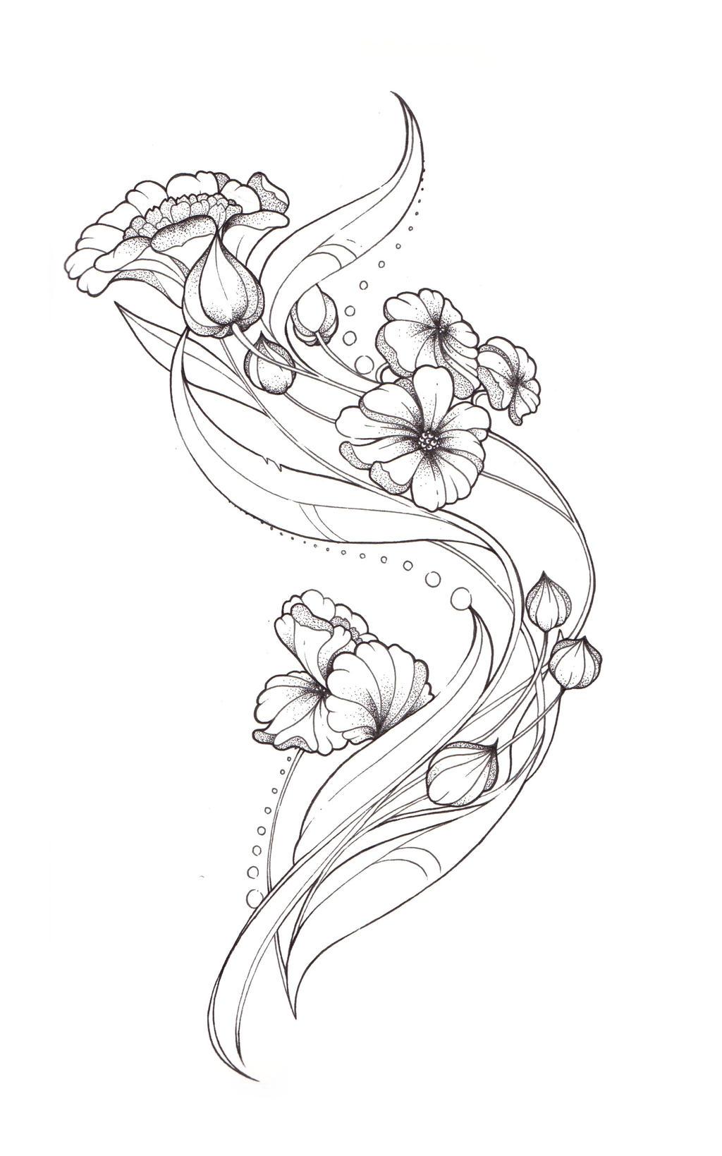 art nouveau tattoo design by tegan ray on deviantart. Black Bedroom Furniture Sets. Home Design Ideas