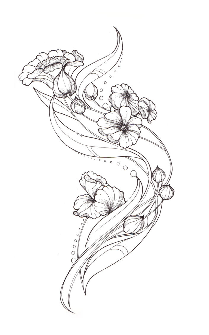 Art Nouveau Tattoo design by Tegan-Ray