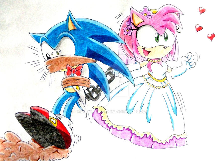 Sonic and Amy wedding by Miszcz90 on DeviantArtAmy And Sonic Wedding