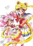 Super Sailor Moon and Super Sailor Chibi Moon