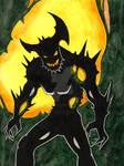 Nature Demon Watercolor by Pyromaniac-Joe