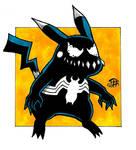 Venomized Pikachu Doodle by Pyromaniac-Joe