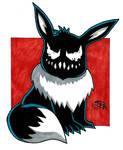 Venomized Eevee by Pyromaniac-Joe