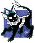 Venomized Vaporeon Doodle by Pyromaniac-Joe