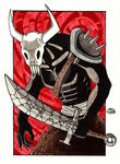 Ancient Demon Watercolor by Pyromaniac-Joe