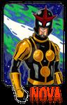 Nova Marvel Superhero Sharpie Drawing by Pyromaniac-Joe