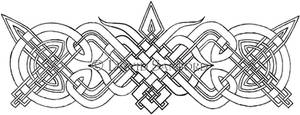 Knotwork pauldrin, part 1 by Crowly