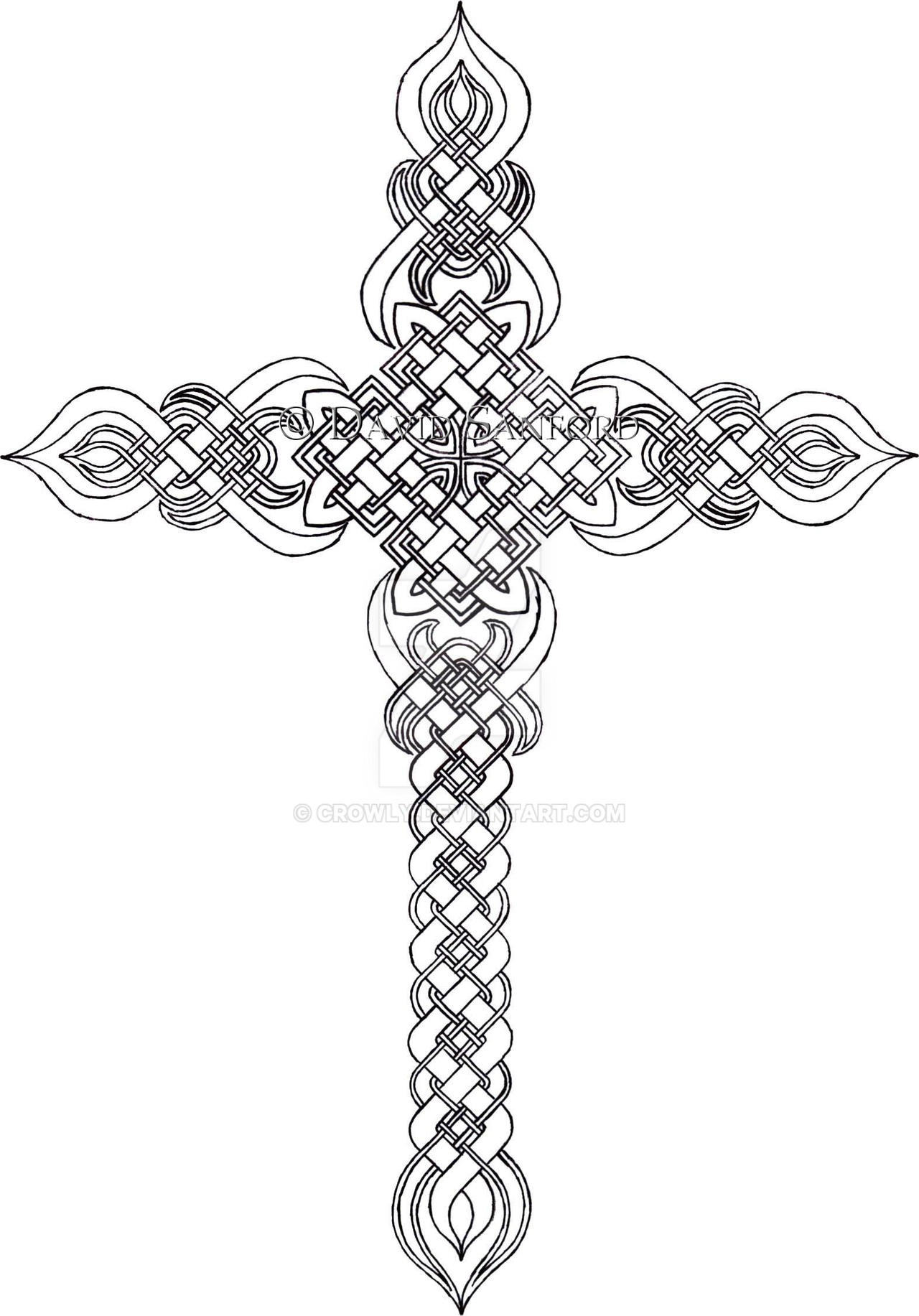 Cross by crowly on deviantart for Adult coloring pages cross