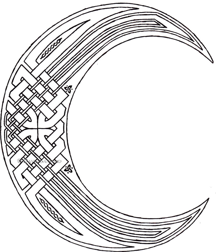Celtic Knot Moon Tattoo images