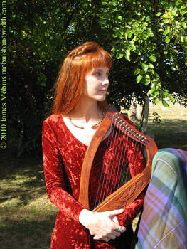 Lady with harp