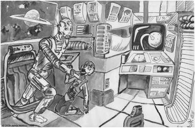 Bad day in space (1980 art)