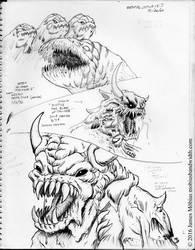 sketchbook page: dental studies