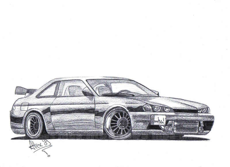 Nissan 240sx Drawing