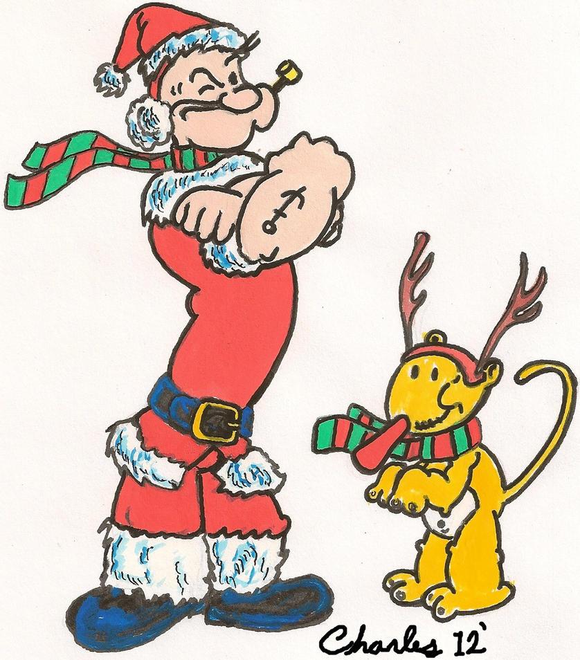 Popey the SantaMan by Badboych on deviantART