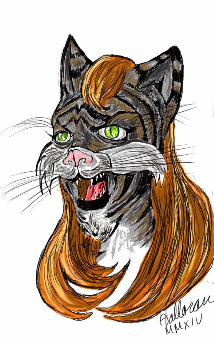 Tabby Cat Lady by Badboych