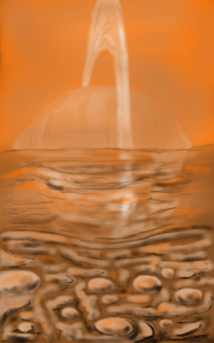 Saturn rise on Titan by Badboych