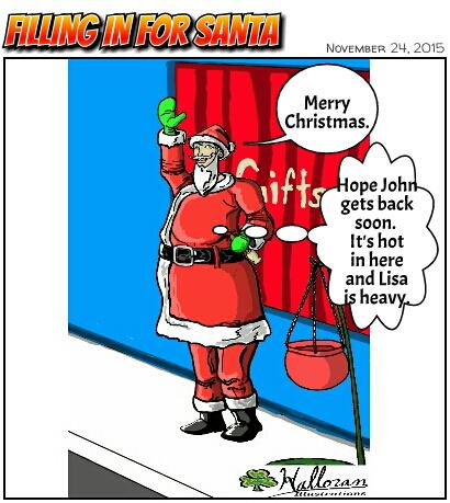 Filling in for Santa by Badboych