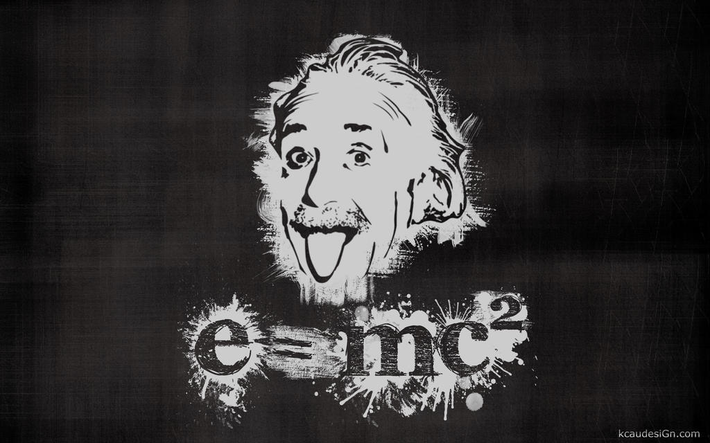 Einstein Stencil Wallpaper By