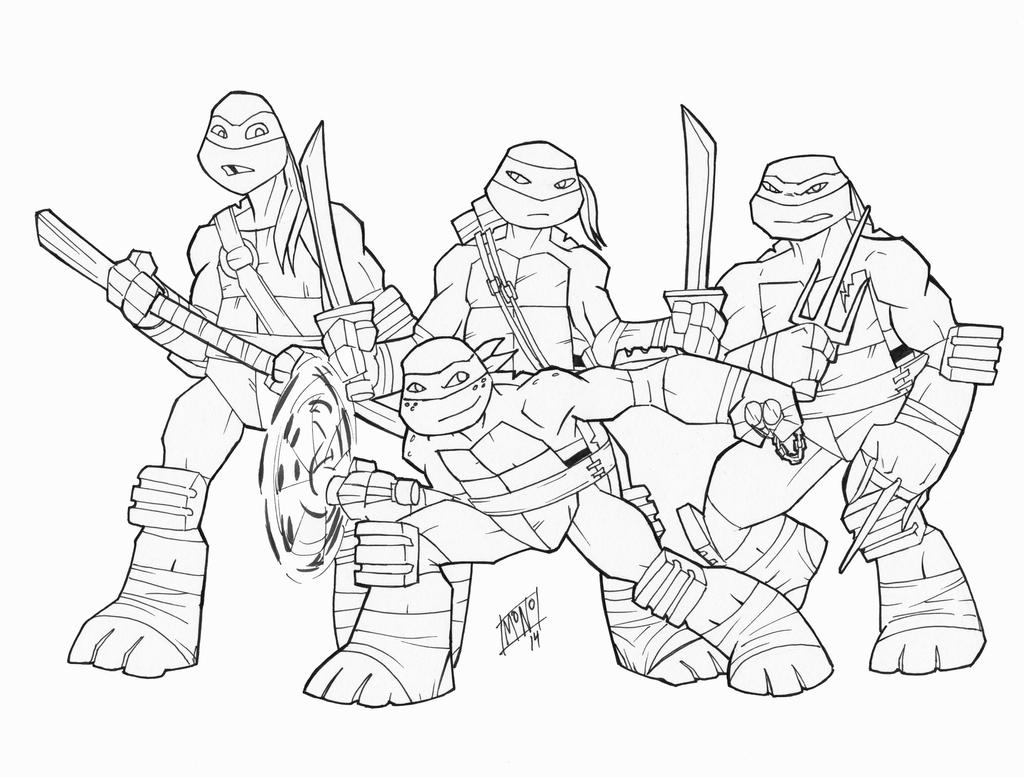 Line Art Ninja Turtles : Nickelodeon ninja turtles by mono phos on deviantart