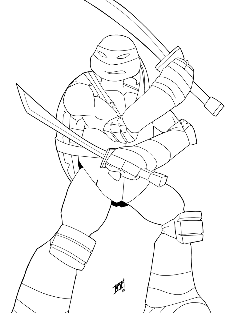 Line Drawing Name : Line nick tmnt leonardo by mono phos on deviantart