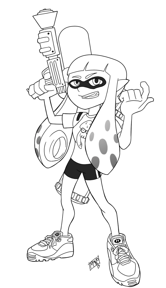 Splatoon Inkling Girl By Mono Phos