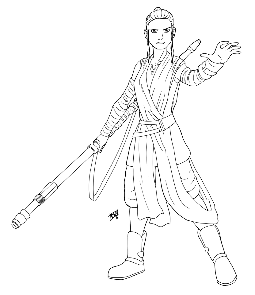 rey and finn coloring pages - photo#18