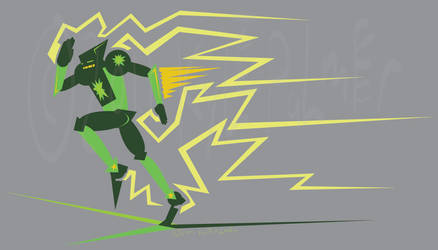 Green Star, vector sketch