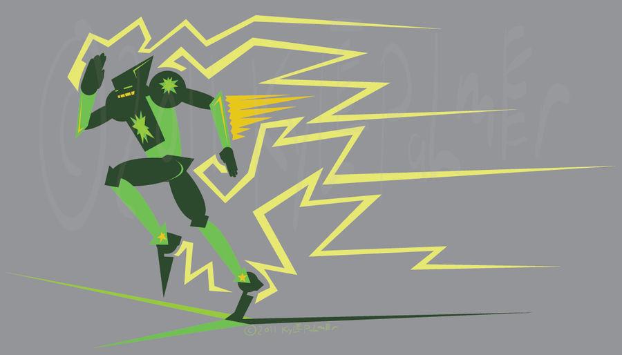 Green Star, vector sketch by ynthamy