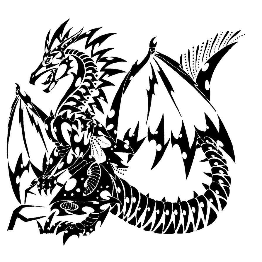 Tattoo Dragon by Khimera on