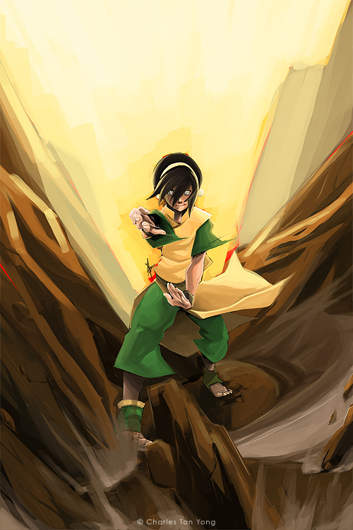 Toph Bei Fong by charlestanart