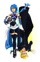 Commission - Aqua and Larxene by charlestanart