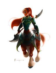 Centaur Warrior by charlestanart